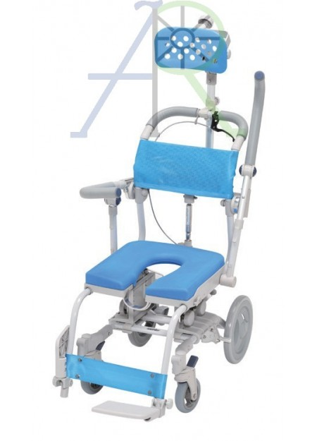Safety lock shower chair (with headrest)