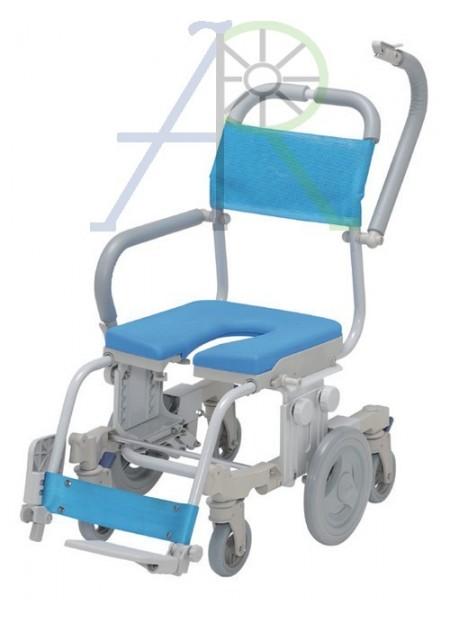 Shower and commode chair (6 wheels)