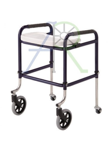 Walker with movable tray