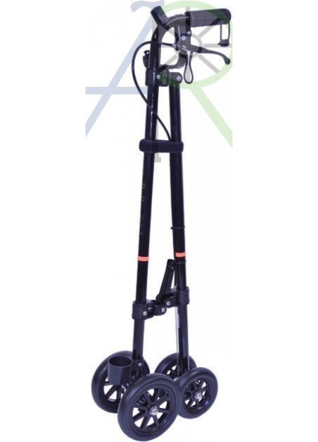 Walking stick with wheels (Parallel import)