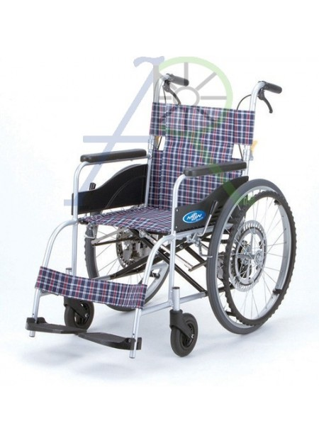 Anti-backward self-service wheelchair (Parallel import)