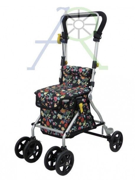 """""""Travel Suit"""" - Compact Shopping Cart & Folding Cane (Parallel Import)"""