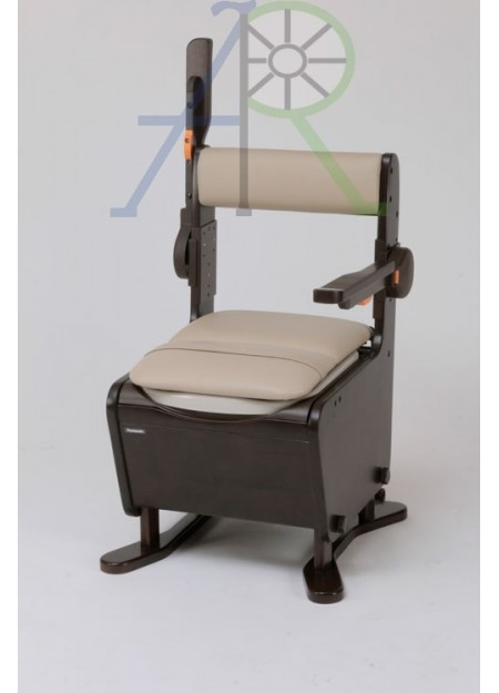 Furniture-type commode chair (Handrails can be lifted back) (Parallel Import)