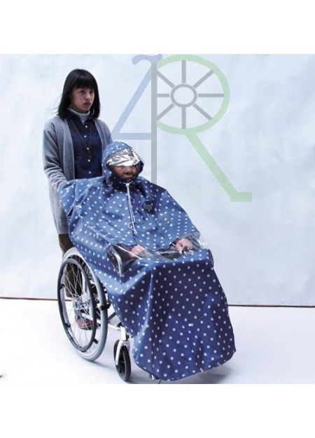 Fashionable wheelchair raincoat