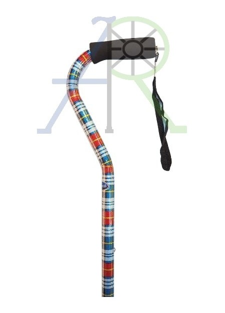 Aluminum Alloy Balance Cane (Checkered Red)