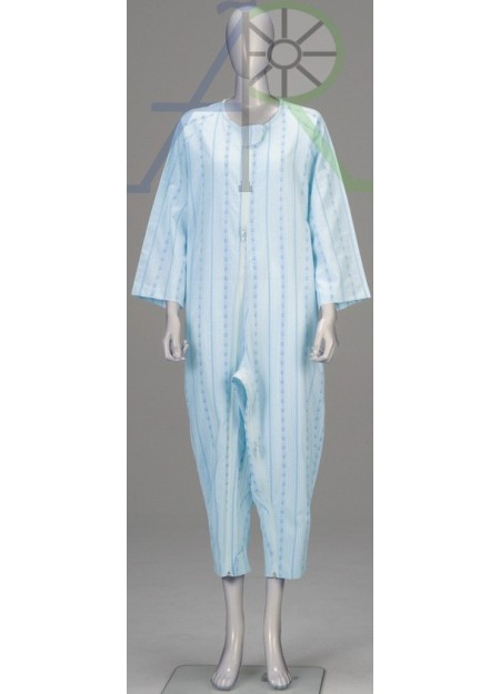 Softy Pajama style patient uniform(Double zipper, Thick version)