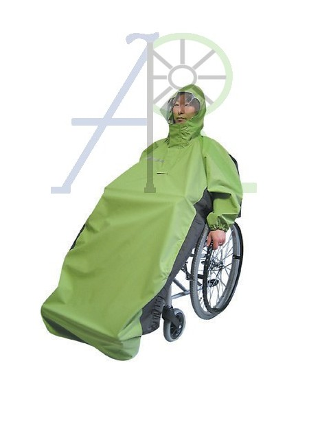 Free-active wheelchair raincoat