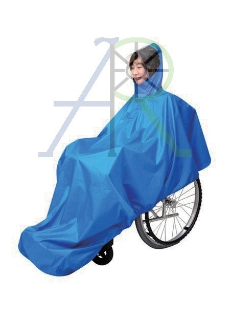Covered wheelchair raincoat